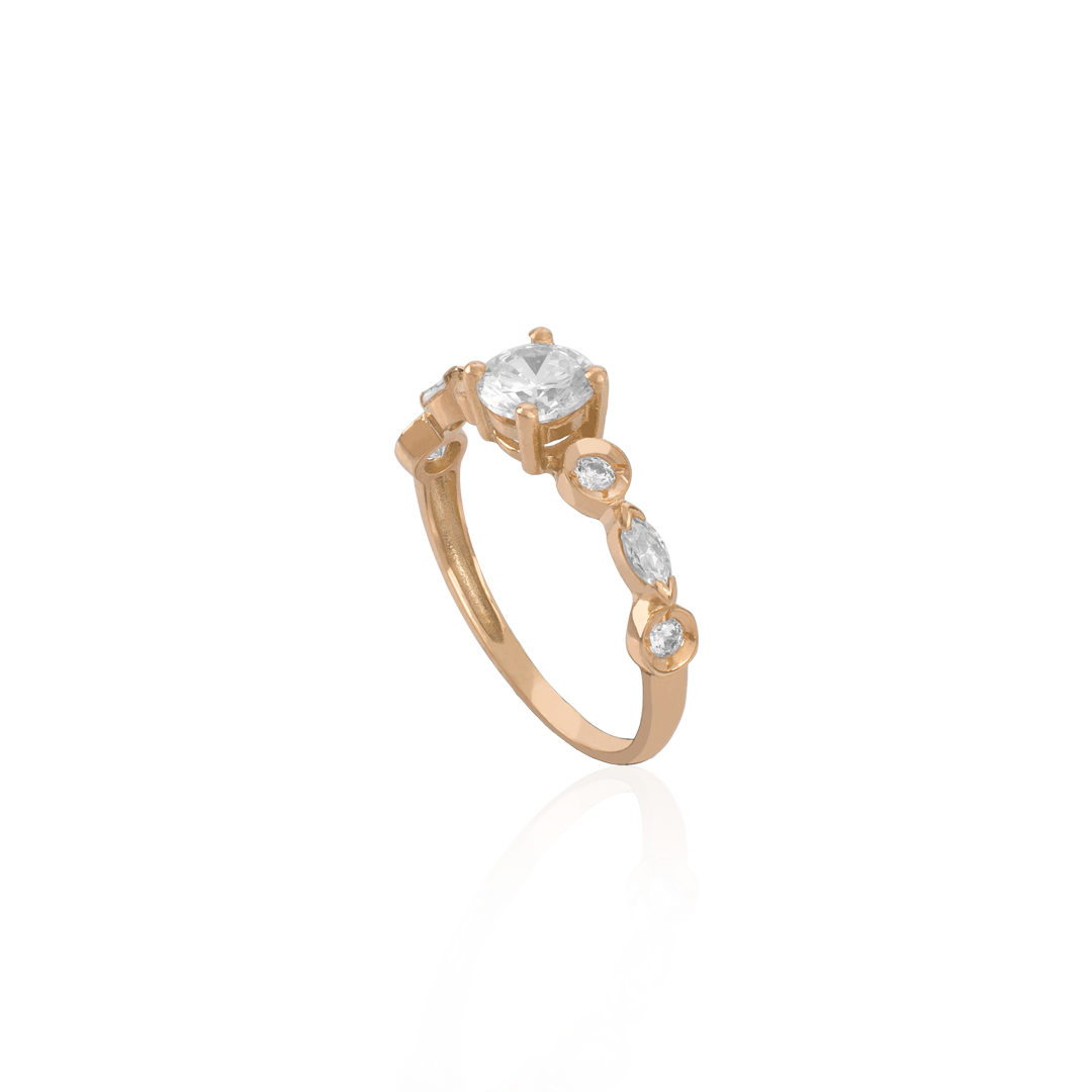 Gold 19.2Kt Engagement Ring, Anel de Noivado de Ouro
