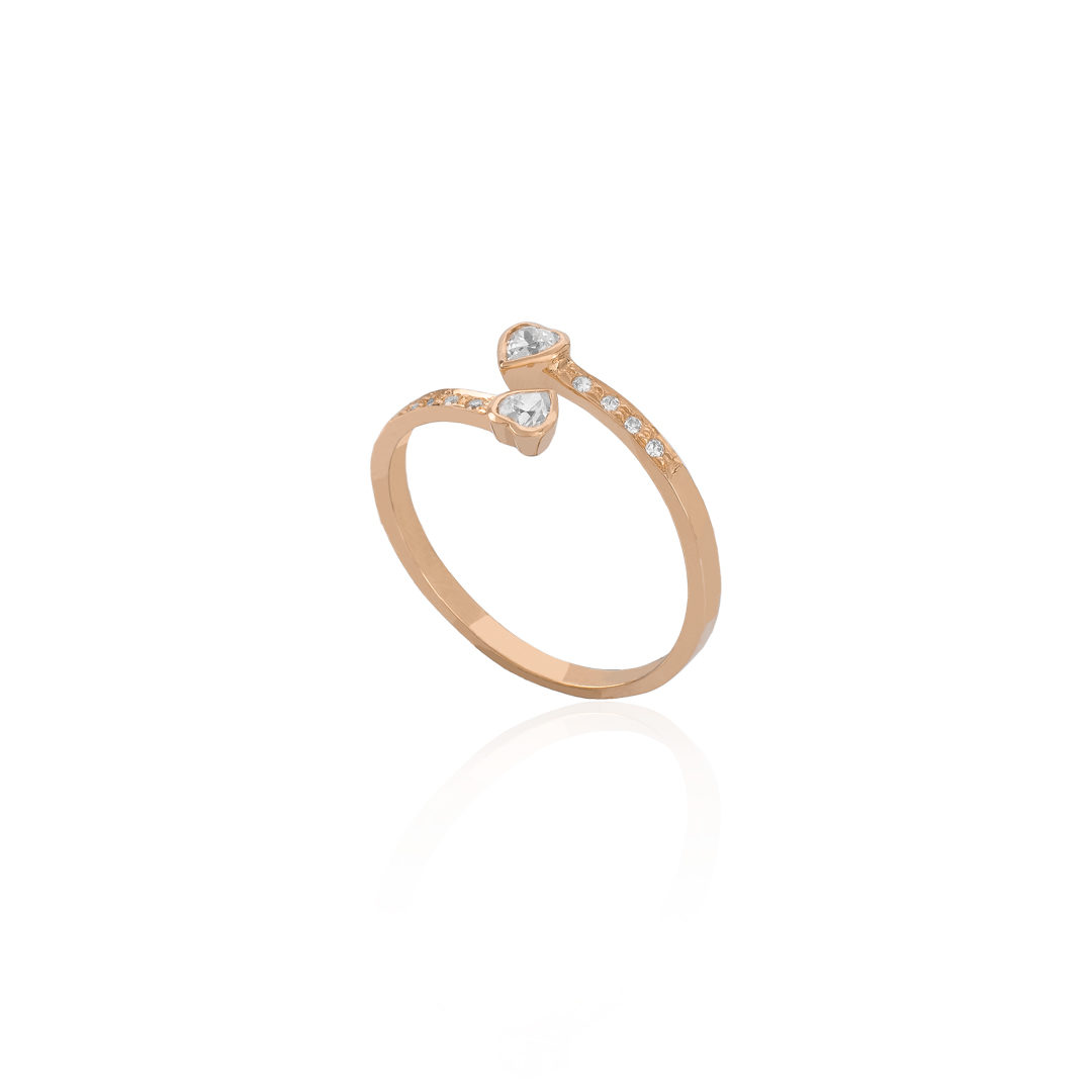 Heart Gold Universal Ring, Anel Corações em Ouro
