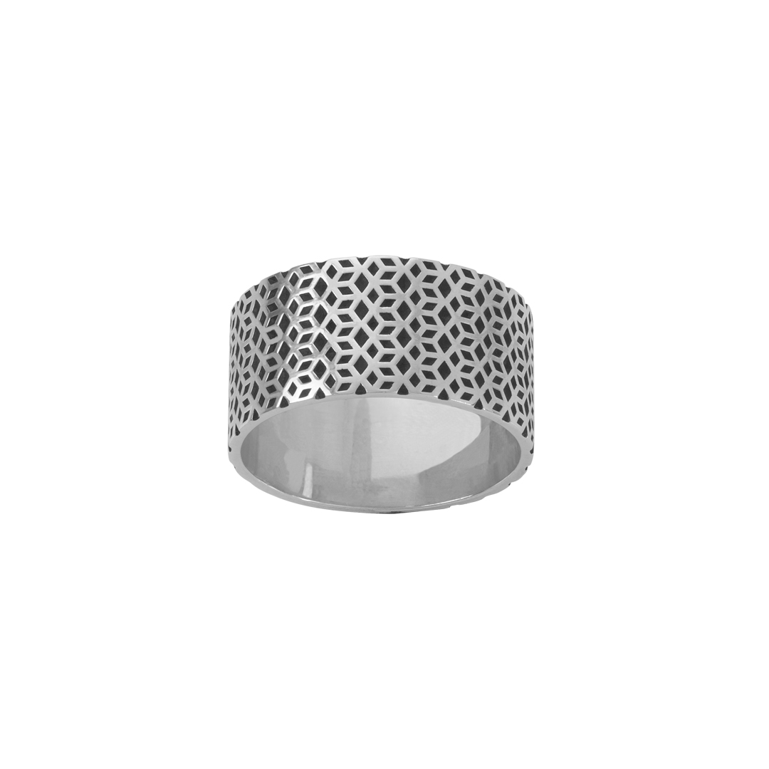 925 Silver Ring for Men,Anel de Prata Cubos