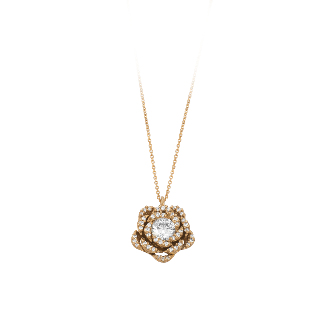 Gold Flower Necklace, Colar Flor de Ouro