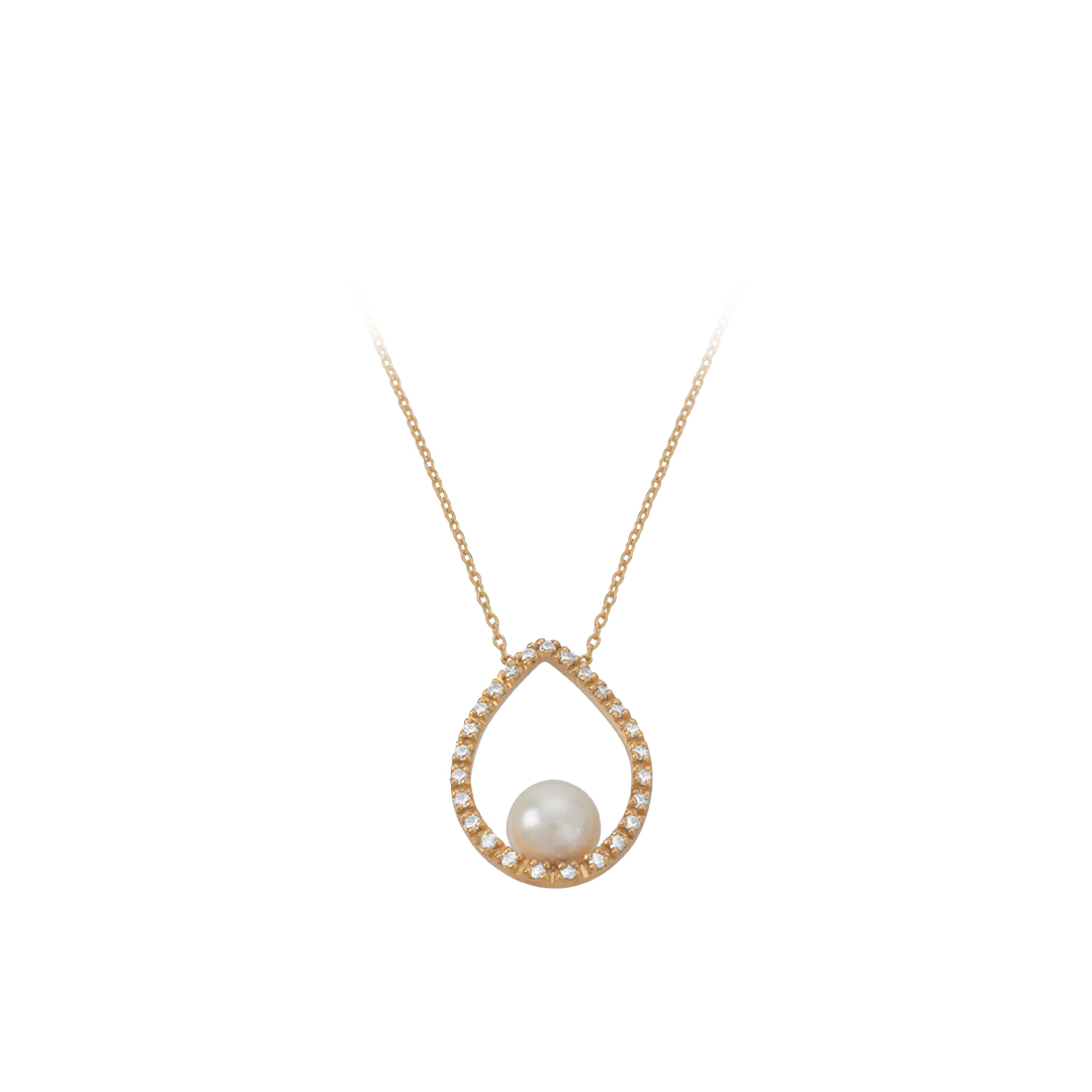 Pearl Water Drop Necklace, Colar Gota de Agua