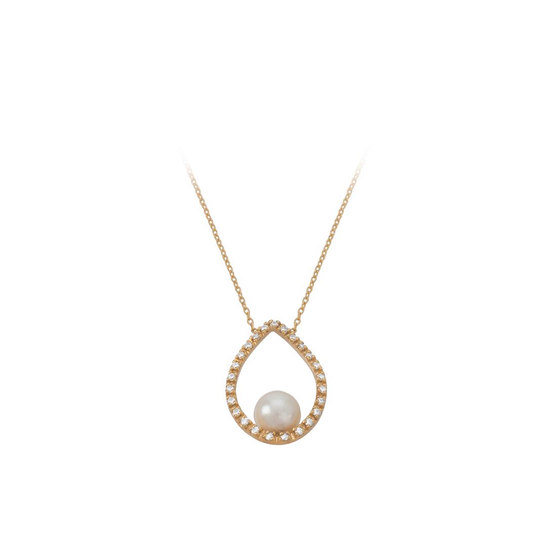 Pearl Water Drop Necklace, Colar Gota de Agua