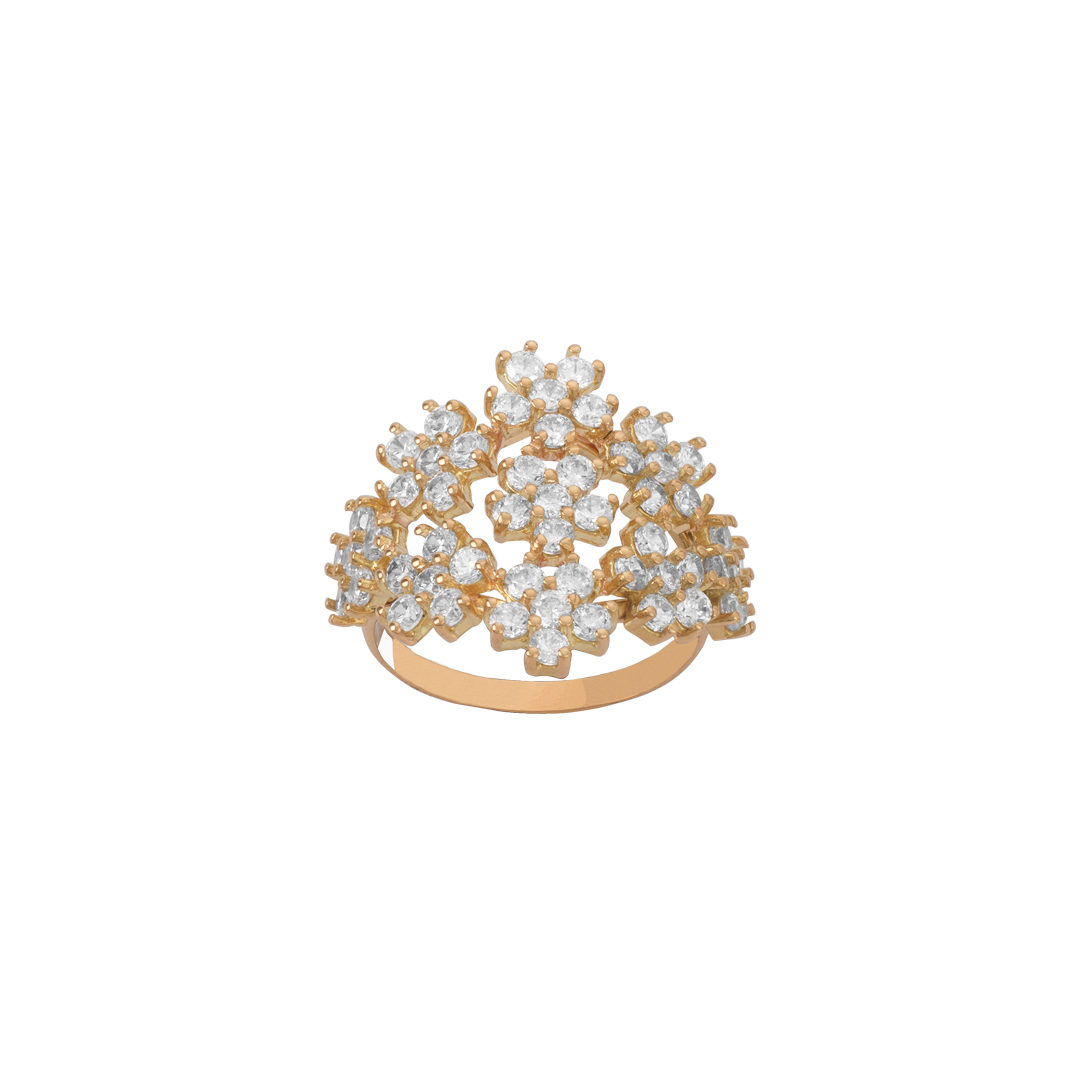 Floral Gold Ring, Anel Floral em Ouro