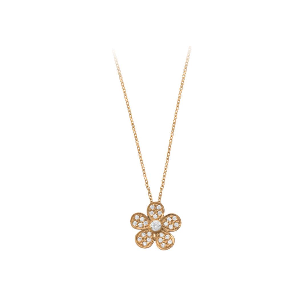 Gold Flower Necklace 19.2Kt, Colar Flor em Ouro