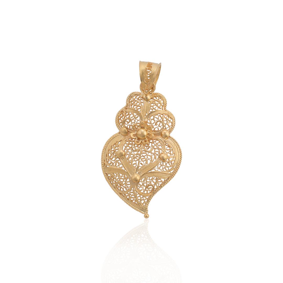 Heart of Viana Certified Filigree Medallion, Medalhão Filigrana Coração de Viana