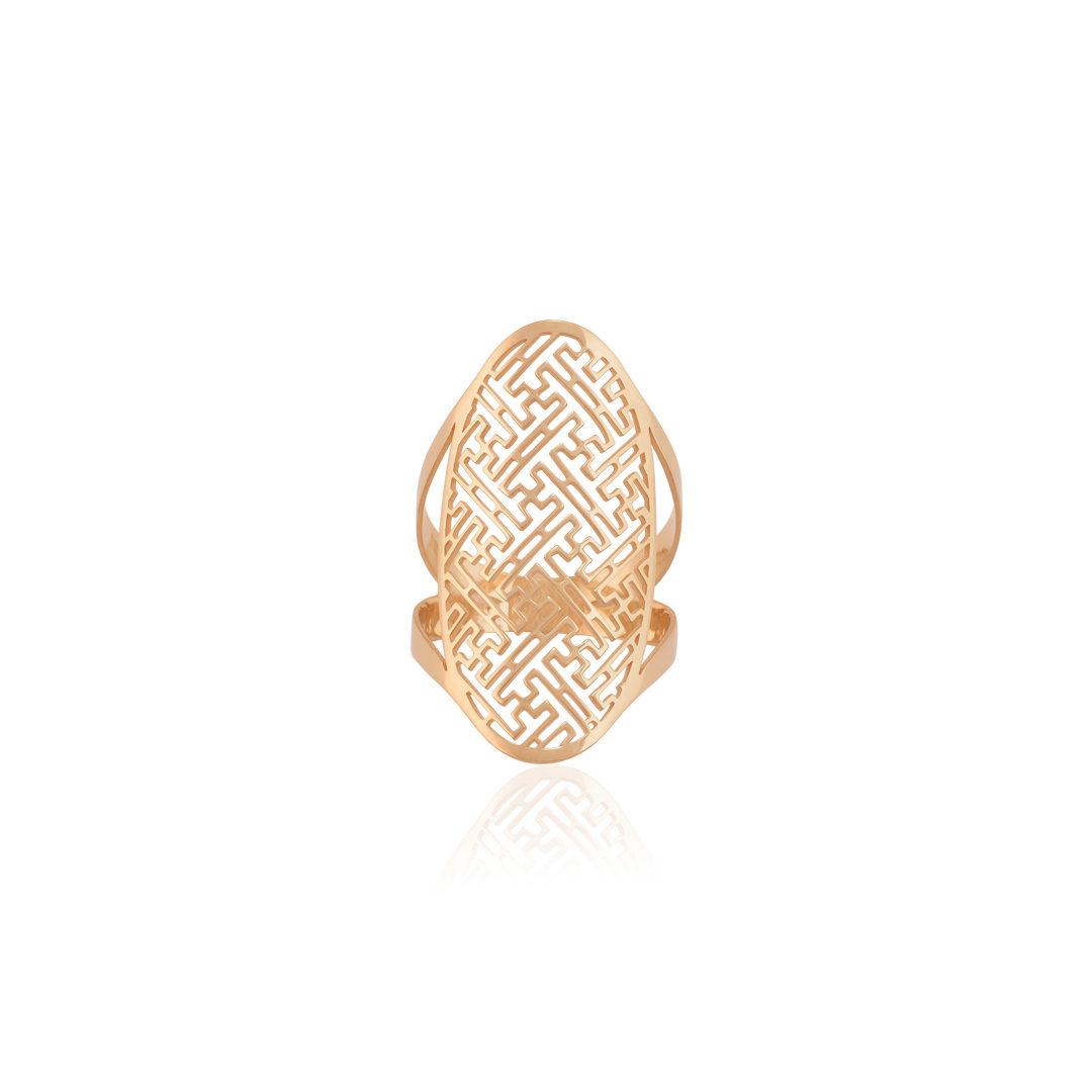 19.2Kt Gold Maze Ring, Anel Labirinto em Ouro