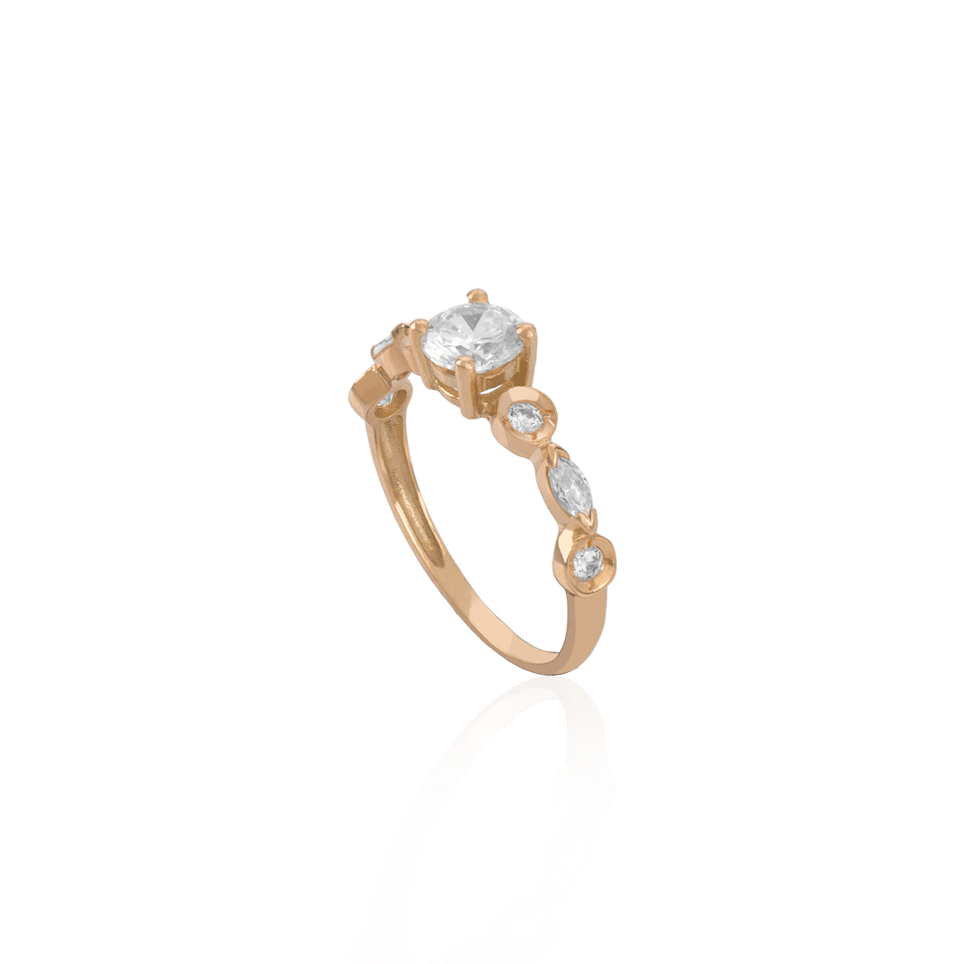Gold 19.2Kt Engagement Ring, Anel de Noivado de Ouro