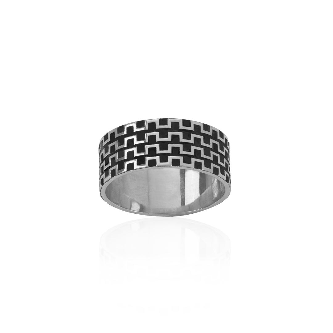 Men 925 Silver Ring, Anel de Homem