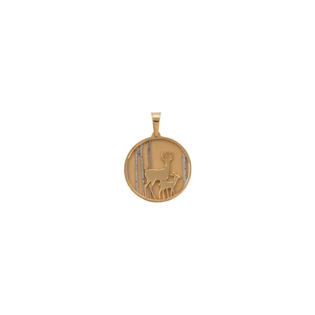 925 Silver Medallion, Medalha Veados