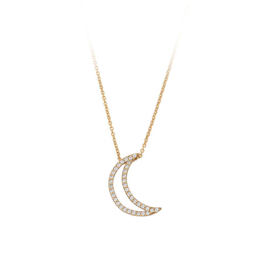 Last Quarter Moon Necklace, Colar Lua Quarto Minguante