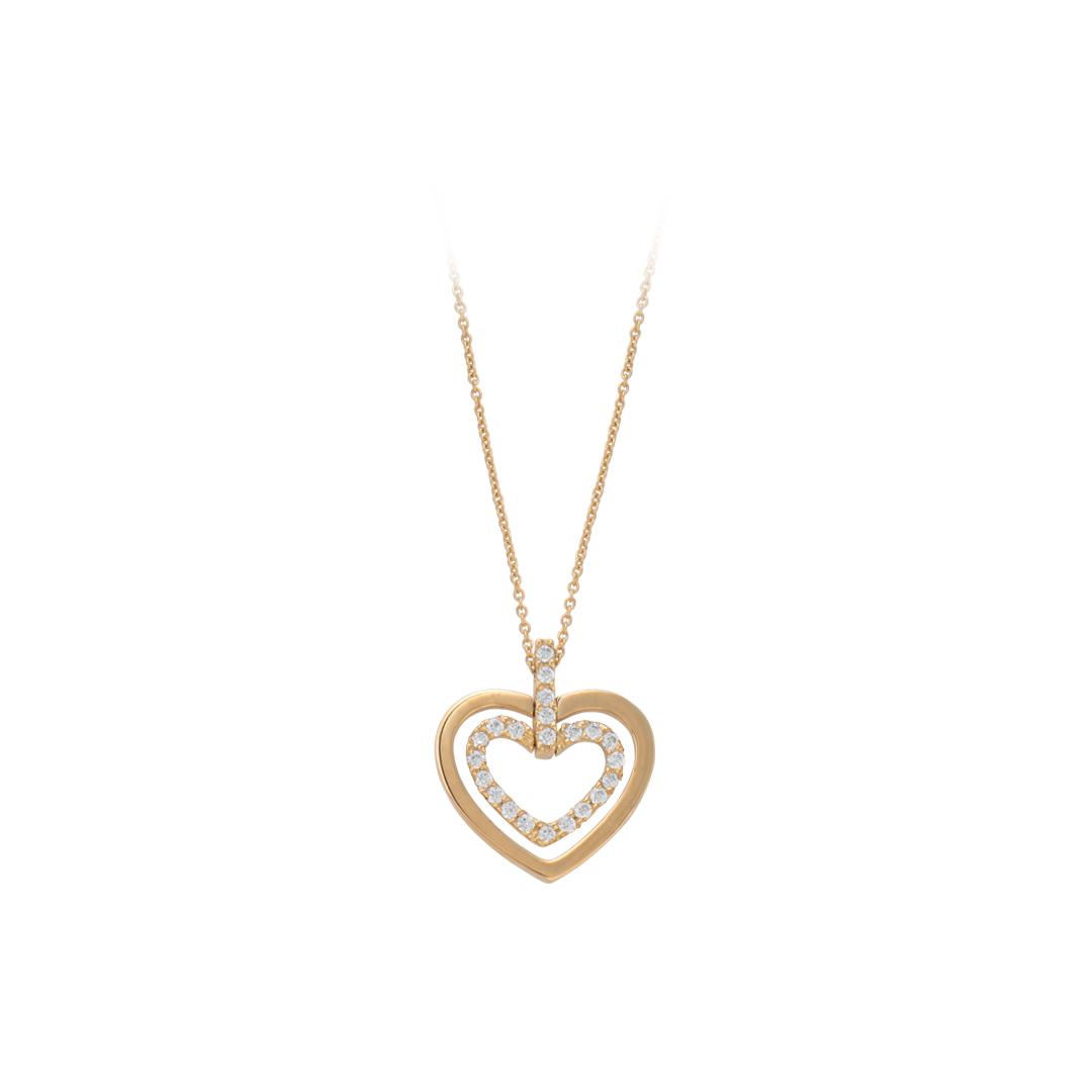 Hearts Gold Necklace, Colar Corações em Ouro