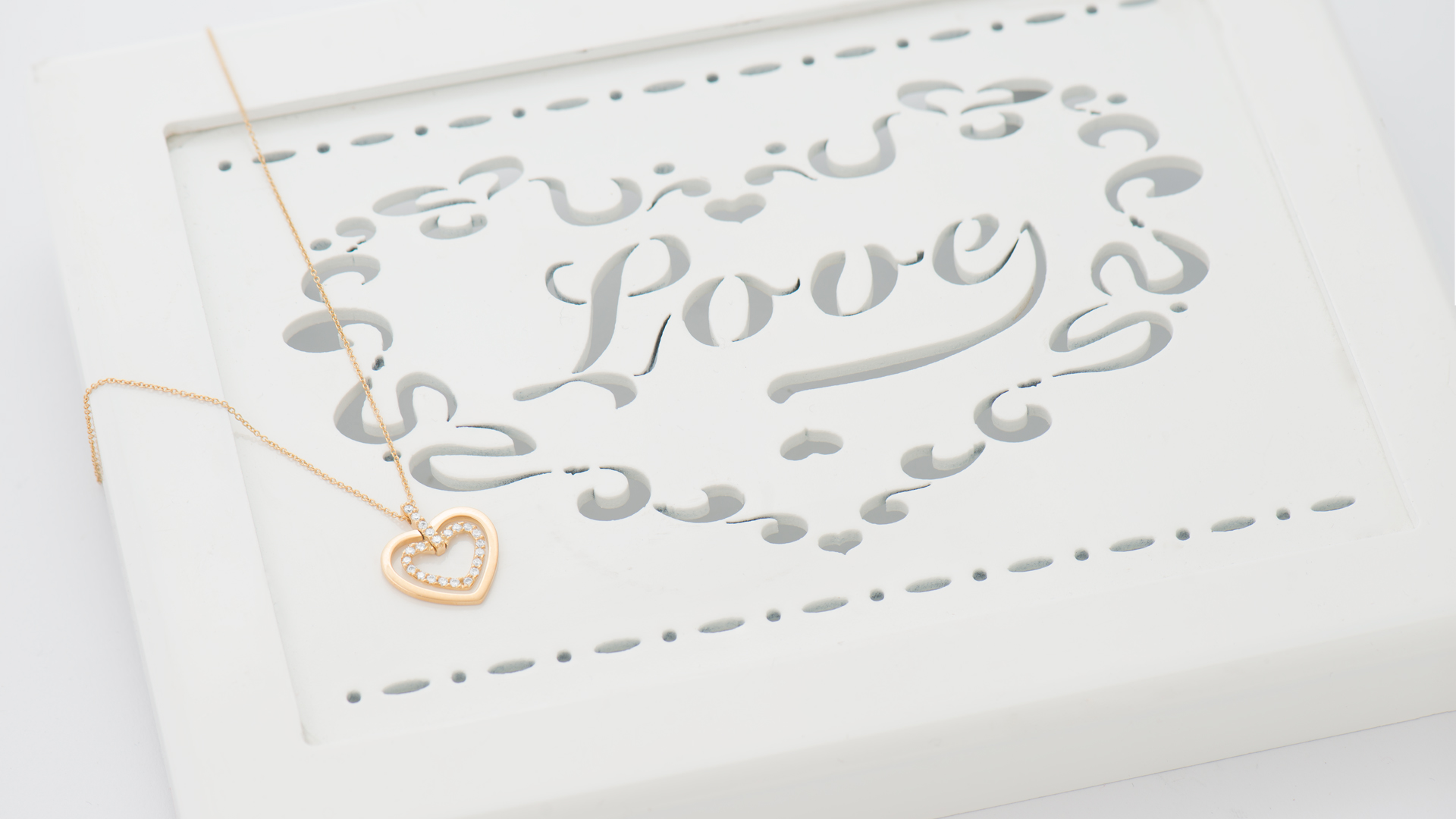 Hearts Gold Necklace Love