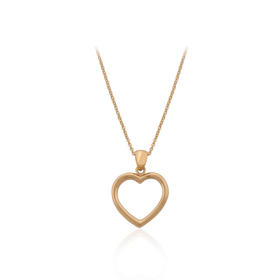Love Heart Gold Necklace,Colar Coração do Amor em Ouro