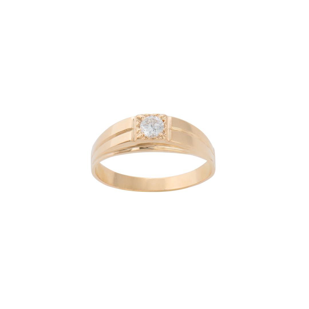 Men 19.25Kt Gold Ring, Anel de Ouro 19.2Kt para Homem