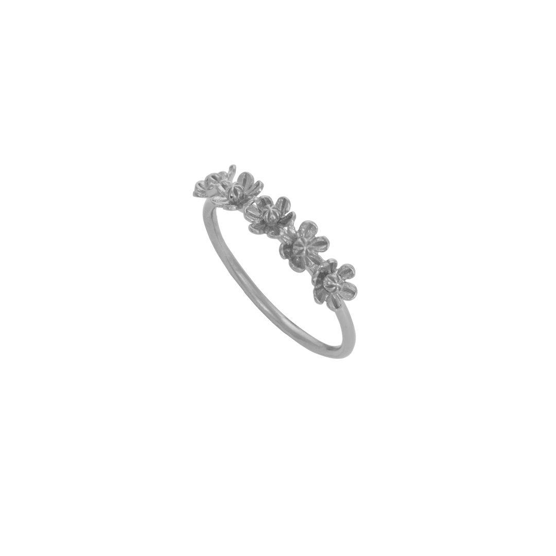 5 Flowers Silver Ring, Anel 5 Flores em Prata