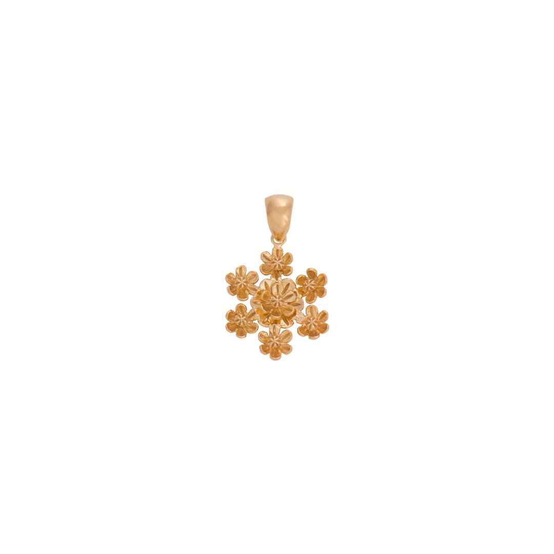 Flower Silver Medallion, Medalhão Flores em Prata